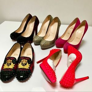 Authentic Christian Louboutin Lot (5 Pairs)